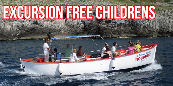 BOAT TOUR SALENTO GROTTE- OFFER LOW COST - FREE CHILDREN